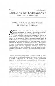 Blin_1957_Notes sur deux chemins anciens de Lyon au Charolais