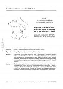 Celli et al_2015_Lugdunum en territoire ségusiave